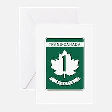 Trans-Canada Highway, Alberta Greeting Cards (Pk o