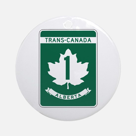 Trans-Canada Highway, Alberta Ornament (Round)