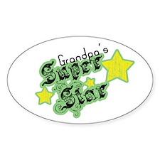 Grandpa's Super Star Oval Decal