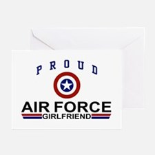 Proud Air Force Girlfriend Greeting Cards (Pk of 1