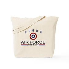Proud Air Force Sister Tote Bag