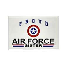 Proud Air Force Sister Rectangle Magnet