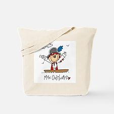 Pirate Man Overboard Tote Bag
