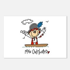 Pirate Man Overboard Postcards (Package of 8)