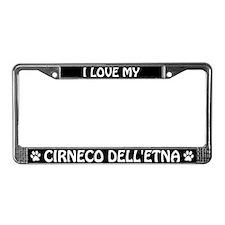 I Love My Cirneco dell'Etna License Plate Frame