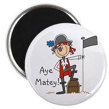 "Aye Matey Pirate 2.25"" Magnet (100 pack)"
