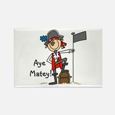 Aye Matey Pirate Rectangle Magnet