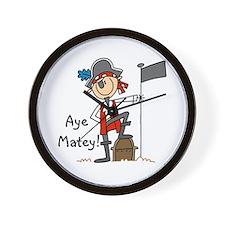 Aye Matey Pirate Wall Clock