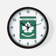 Trans-Canada Highway, Manitoba Wall Clock