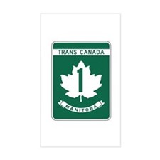 Trans-Canada Highway, Manitoba Rectangle Decal