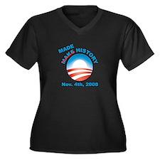 Obama - Made History Women's Plus Size V-Neck Dark
