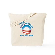 Obama - Made History Tote Bag
