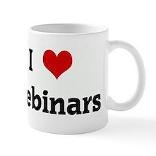 I Love Webinars Small Mug