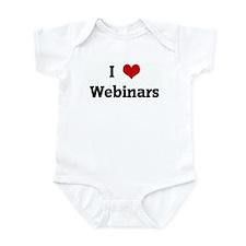 I Love Webinars Infant Bodysuit