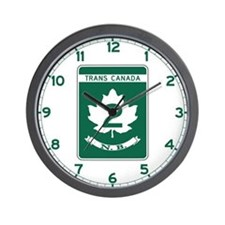 Trans-Canada Highway, New Brunswick Wall Clock