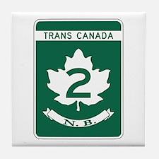 Trans-Canada Highway, New Brunswick Tile Coaster