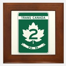 Trans-Canada Highway, New Brunswick Framed Tile