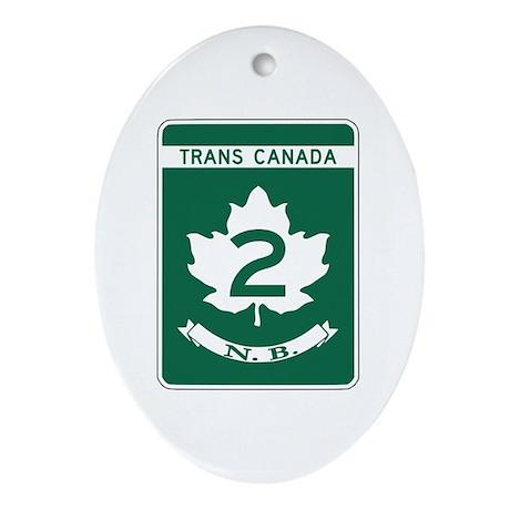 Trans-Canada Highway, New Brunswick Ornament (Oval