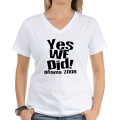 Yes We Did Obama 2008 Shirt