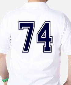 NUMBER 74 BACK Golf Shirt