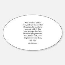 GENESIS 43:29 Oval Decal