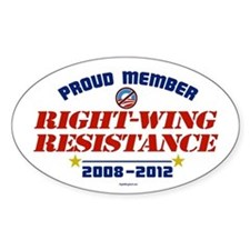 Right-Wing Resistance Oval Decal