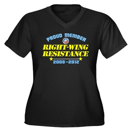 Right-Wing Resistance Women's Plus Size V-Neck Dar