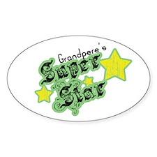 Grandpere's Super Star Oval Decal
