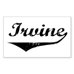 Irvine Rectangle Decal