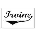 Irvine Rectangle Sticker