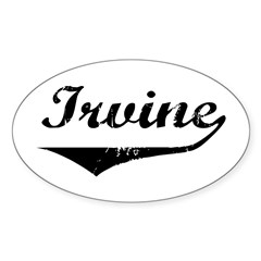 Irvine Oval Decal