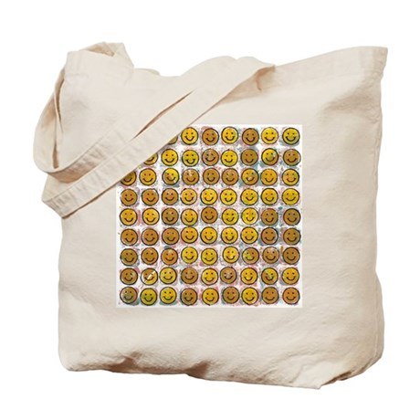 81 Smiley Faces Tote Bag