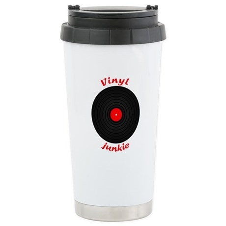 Vinyl Junkie Stainless Steel Travel Mug
