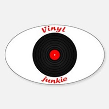 Vinyl Junkie Oval Decal