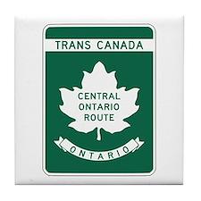 Trans-Canada Highway, Ontario Tile Coaster