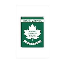 Trans-Canada Highway, Ontario Rectangle Bumper Stickers