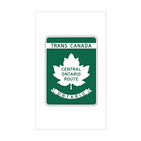 Trans-Canada Highway, Ontario Rectangle Sticker