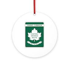 Trans-Canada Highway, Ontario Ornament (Round)