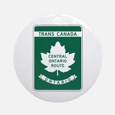 Trans-Canada Highway, Ontario Ornament (Round)