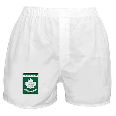 Trans-Canada Highway, Ontario Boxer Shorts
