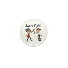 Pirate Sword Fight Mini Button (10 pack)