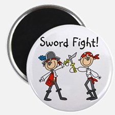 """Pirate Sword Fight 2.25"""" Magnet (10 pack)"""