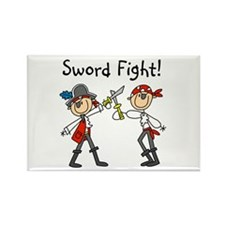 Pirate Sword Fight Rectangle Magnet