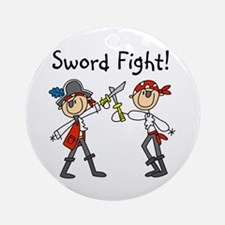 Pirate Sword Fight Ornament (Round)