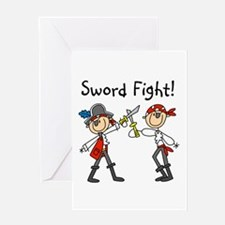 Pirate Sword Fight Greeting Card
