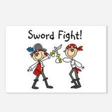 Pirate Sword Fight Postcards (Package of 8)