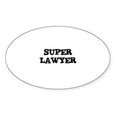 SUPER LAWYER Oval Decal