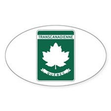 Trans-Canada Highway, Quebec Oval Decal