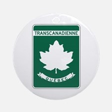 Trans-Canada Highway, Quebec Ornament (Round)