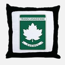 Trans-Canada Highway, Quebec Throw Pillow